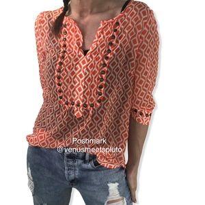 Stitch Fix 41 Hawthorne studded geometric blouse S